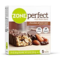 Zone Perfect Classic Nutrition Bar, Chocolate Almond Raisin, 30 Count