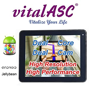 "vitalASC PRO- ST0812-20G 8"" ARM A9 1.5Ghz Dual Core , DDR3 1GB , 1024 x 768 TFT ,Dual Camera , Multi-Touch Screen and Android 4.1 (Jelly Bean) Operating System . by vitalASC - vitalize Your Life"