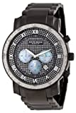 Akribos XXIV Mens AKR439BK Grandiose Dazzling Diamond Black Chronograph Watch