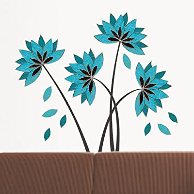 Art Deco Lotus Flower Amazon Com Platin Art Wall Decal