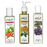 Greenviv Natural Combo of Minty Citrus Hand Wash (200 ml), Aloe-Vera & Carrot Sun Screen Lotion SPF-25 (100 ml) With Lavender & Tulsi Hair Conditioner (200 ml)