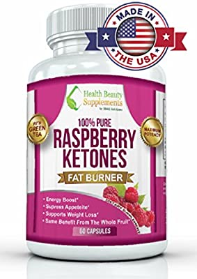 -MAX POTENCY RASPBERRY KETONES WITH GREEN TEA- 100% Pure Fresh Raspberry Ketones Weight Loss Capsules. Best Carb Blocker And Fat Burn Pills