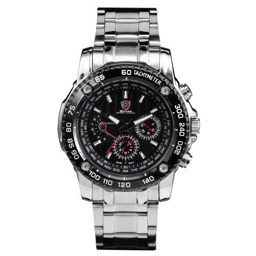 Shark Waterproof Analog Men Quartz Wrist Watch New +Box