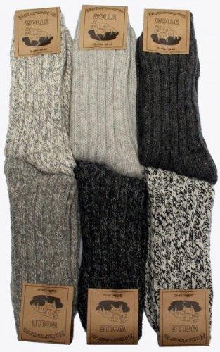 4 Paar flauschig-warme Norweger-Socken von 'REFLEXX' für Damen, Herren + Kinder, 4 Größen, 3 Farbvarianten