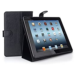 Stony-Edge Comfort Cave Leather Case with Polishing Cloth for Apple iPad Mini - Black
