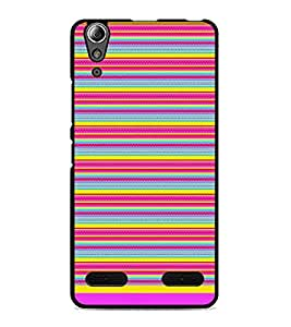 PrintDhaba Tribal Pattern D-1727 Back Case Cover for LENOVO A6000 (Multi-Coloured)