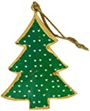 London Ornaments Design Metal Christmas Tree, Set of 4, Green/ White