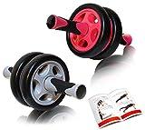 DB Praise 腹筋ローラー Ab Wheel 2色 健康フィットネス用品 効果的なスポーツトレーニング(グレー、ピンク)(Grey)