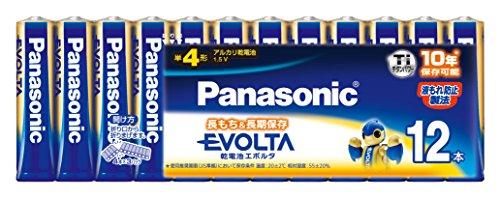 パナソニック EVOLTA 単4形アルカリ乾電池 12本パック LR03EJ...