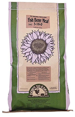 Down To Earth Fish Bone Meal 3-16-0 Fertilizer, 50-Pound