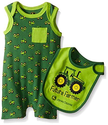 John Deere Baby Future Farmer Romper Set, Green/Lime Green, 3-6 Months