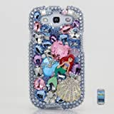 BlingAngels 3D Luxury Swarovski Crystal Diamond Blue Mermaid Design Case Cover for Samsung Galaxy S3 S III i9300 fits Verizon, AT&T, T-mobile, Sprint and other Carriers (Handcrafted by BlingAngels)