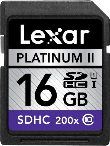Lexar Platinum II 200x 16GB SDHC UHS-I Flash Memory Card LSD16GBSBNA2002 - 2 Pack (Lexar Platinum Ii 8 Gb Memory compare prices)