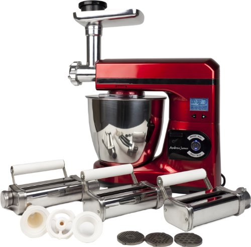 Andrew James Ultimate Red Food Mixer Package Includes:- Red 7 Litre Food Mixer With Meat Grinder Attachment And Pasta Maker Attachment from 14450 Russell Hobbs