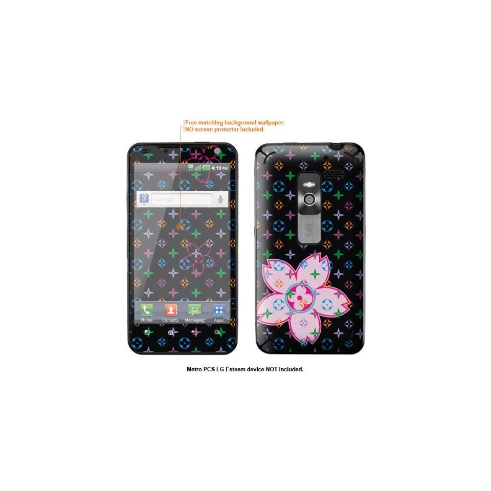 Protective Decal Skin Sticker for Metro PCS LG Esteem 4G case cover Esteem 600