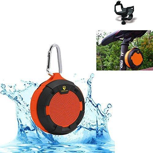 iNINJA(TM)Waterproof Bluetooth Speaker V4.0,Outdoor & Indoor Portable Shower Speaker Built-In Rechargeable Battery with Holder for Bicycles,Backpack