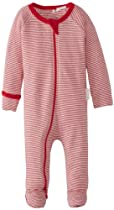 Pure Baby Unisex-Baby Newborn Zip Growsuit, Red Stripe, New Born