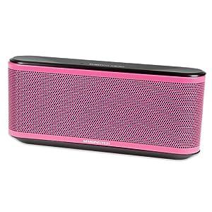 Monster ClarityHD Micro Bluetooth Speaker Interchangeable Grills (Pink)