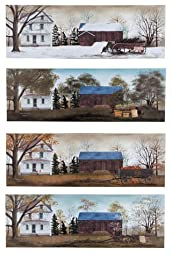 Large Four Seasons House Canvases - Set of 4