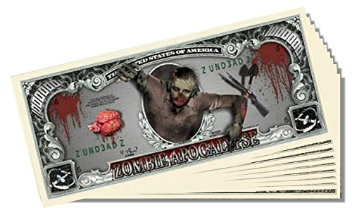Zombie Apocalypse Million Dollar Bill - 25 Count with Bonus Clear Protector & Christopher Columbus Bill