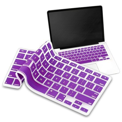 Eforcity Silicone Keyboard Skin Shield For Apple Macbook Pro - Purple (Pappmcbkkbs8)