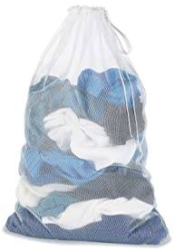 Whitmor 6154-111 Mesh Laundry Bag, White