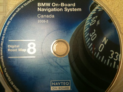 BMW, Land Rover or Mini Cooper Navigation disk CD # 8, this disk covers Canada (map date release 2005)