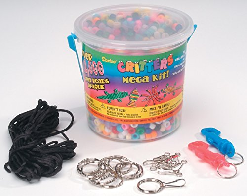 Darice Crafts Bead Kit Plastic Pony Bead Mega Critters Bucket