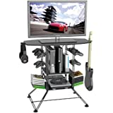 "Atlantic Black Centipede Game Storage and 42"" TV Stand"