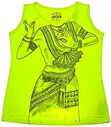 Urumi Women's Regular Fit T-Shirt (URMI056-Xl, Green, X-Large)