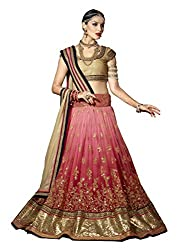 Touch Trends Pink Embroidered Lehenga Choli