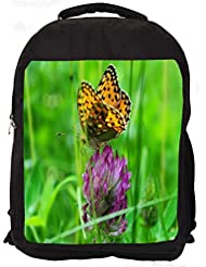 """Snoogg Leopard Butterfly Casual Laptop Backpak Fits All 15 - 15.6"""" Inch Laptops"""