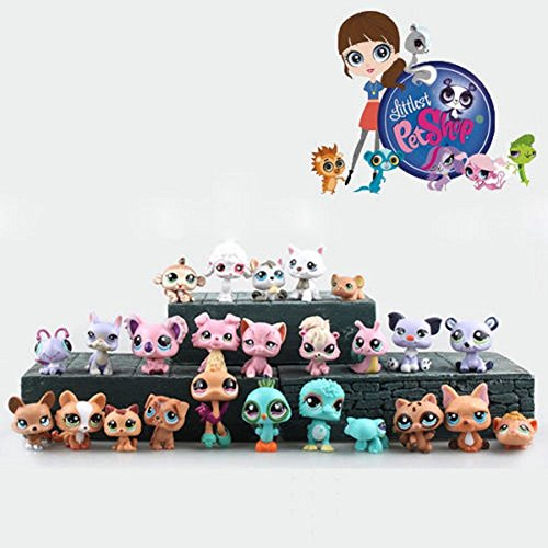 Cute Rare Littlest Pet Shop LPS 12Pcs Lot Figure Collection Toy Cat Dog Loose - Hot choice