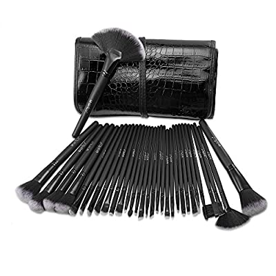 Makeup Brushes, USpicy Make Up Brush Set 32 Pieces Cosmetics Brushes Kit with Travel Pouch