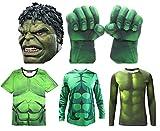 ハルク コスプレ 衣装 マスク グローブ シャツ なりきり 仮装 アメコミ 大人 舞台 演劇 イベント コスチューム セット パーティ パレード Hulk