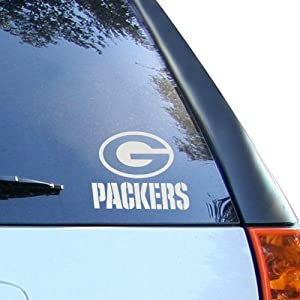Green Bay Packers Silver Decal Logo Window Graphic by Rico