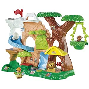 : Fisher-Price Little People Zoo Talkers Animal Sounds Zoo : Toy Figure Playsets : Toys & Games