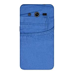 Blue Jeans Back Case Cover for Galaxy Core 2