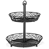 Tablecraft Mediterranean Collection Black Metal 2-Tier Display