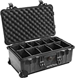 Pelican 1510-004-110 Case with Padded Dividers, Black