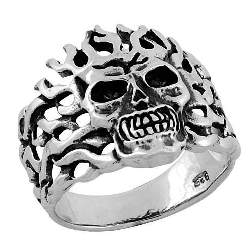 Stainless Steel Ring with Flames all over (Available in Sizes 7 to11) size10