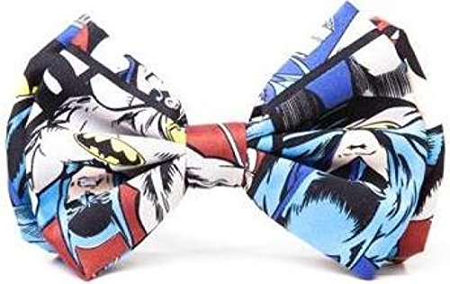 New Dc Comics Batman Bowtie With Classic Comic Art All Over Mens Fancy Neck Tie