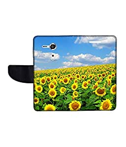KolorEdge Printed Flip Cover For Sony Xperia SP Multicolor - (45KeMlogo09133XperiaSP)