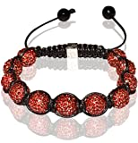 Tibetan Shamballa Unisex Bracelet In All Red (Item Includes Gift Box)