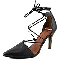Lucky Brand Women's Sabreena Leather Ankle-High Leather Pump (Black)