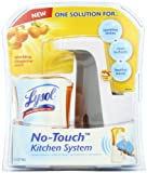 Lysol No-Touch Kitchen System Dish Soap Dispenser Starter Kit, Tangerine, 8.5 Ounce