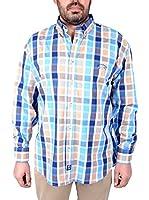 TIME OF BOCHA Camisa Hombre (Azul Oscuro / Azul Claro)