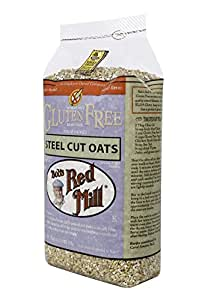 Bob's Red Mill Gluten Free Whole Grain, Steel Cut Oats, 24-Ounce Bags (Pack of 4)