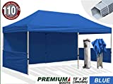 Eurmax 6 x 3m Pop up Gazebo, Trade Show Marquee Commercial Grade Gazebo with Aluminum Foot Legs, Event Tent with Sides, and Wheeled Carry Bag (Blue)