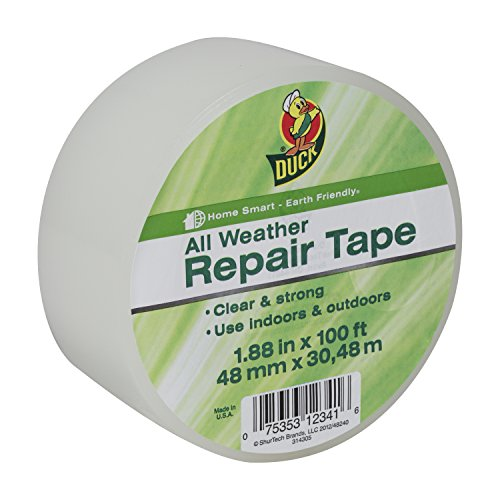 Duck Brand 281230 All Weather Indoor/Outdoor Repair Tape, Clear, 1.88-Inch x 100-Feet, Single Roll (Outdoor Tape compare prices)